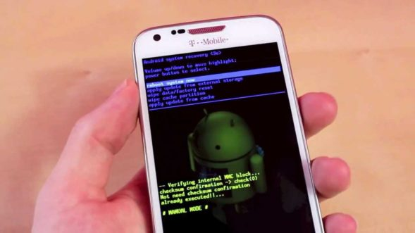 Меню Android System Recovery