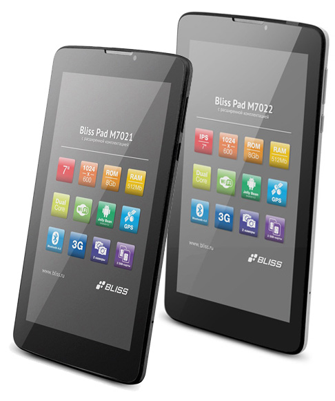 Планшеты Bliss Pad M7021 и Bliss Pad M7022 отличия